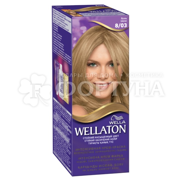 Краска для волос Wellaton Maxi Single 8/03 Ясень