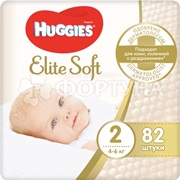 Подгузники Huggies Elite Soft 82 шт 2 (4-6кг)
