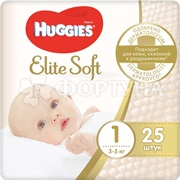 Подгузники Huggies Elite Soft 25 шт 1 (3-5 кг)