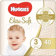 Подгузники Huggies Elite Soft 40 шт 3 (5-9кг)