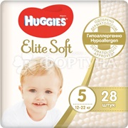 Подгузники Huggies Elite Soft 28 шт 5 (12-22кг)