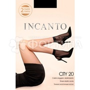 Носки Incanto City 20 den (с лайкрой 2 пары) nero б/р