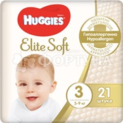 Подгузники Huggies Elite Soft 21 шт 3  (5-9кг)